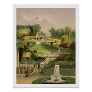 El jardín en el lado de la colina, castillo Combe, Impresiones