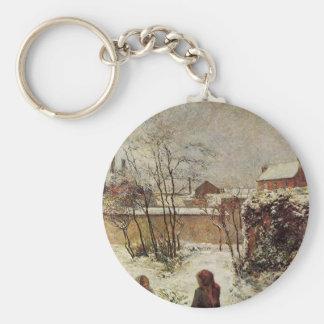 El jardín en invierno, ruda Carcel de Paul Gauguin Llavero Redondo Tipo Pin