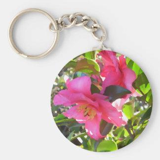 El jardín florece el arte y la fotografía de Crick Llavero Redondo Tipo Pin