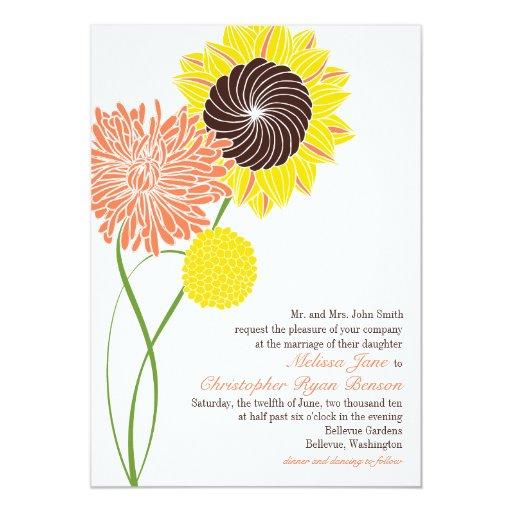 El jardín florece invitación del boda invitación 12,7 x 17,8 cm