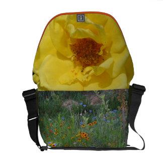 El jardín florece la bolsa de mensajero bolsas de mensajeria