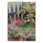 El jardín florece la tarjeta