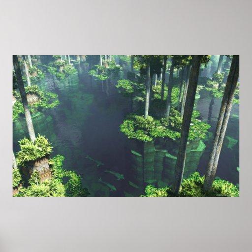 El jardín flotante póster