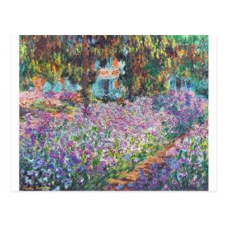 El jardín Giverny del artista Postal
