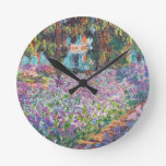 El jardín Giverny del artista Reloj