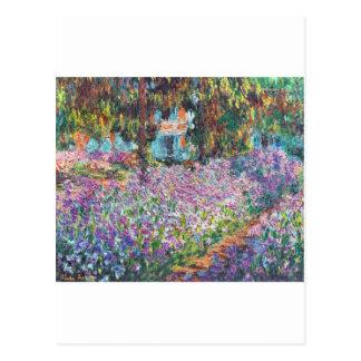 El jardín Giverny del artista Tarjeta Postal