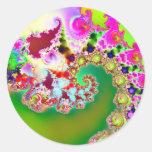 El jardín I de Emma · Arte del fractal · Goa Pegatinas Redondas