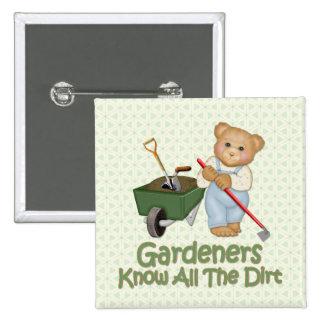 El jardín inclina #1 - sepa la suciedad pin cuadrado