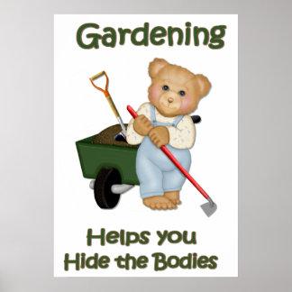 El jardín inclina #2 - cuerpos de la piel póster
