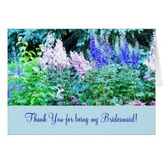 El jardín inglés floral le agradece cardar tarjeta pequeña