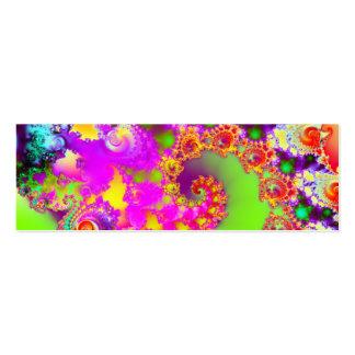 El jardín IV de Emma · Arte del fractal · Monzón Tarjetas De Visita Mini