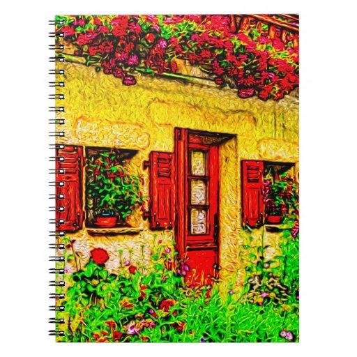 El jardín libros de apuntes con espiral