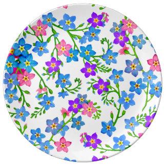 El jardín me olvida no placa de la porcelana de plato de cerámica