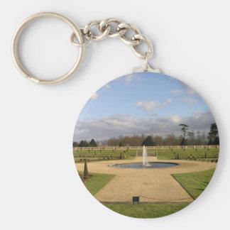 El jardín privado, Hampton Court, Reino Unido Llavero Redondo Tipo Pin