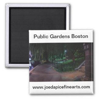 El jardín público de Boston Imán Cuadrado