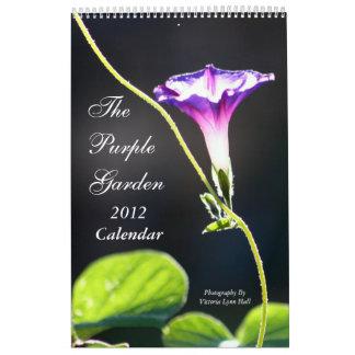 El jardín púrpura 2012 calendario de pared