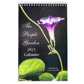 El jardín púrpura 2015 calendario de pared