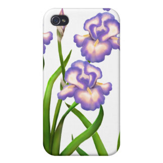 El jardín púrpura del iris florece la caja de la iPhone 4/4S carcasas