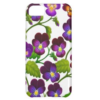 El jardín púrpura del pensamiento florece la caja