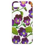 El jardín púrpura del pensamiento florece la caja  iPhone 5 Case-Mate carcasas