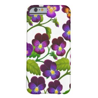 El jardín púrpura del pensamiento florece la caja funda para iPhone 6 barely there