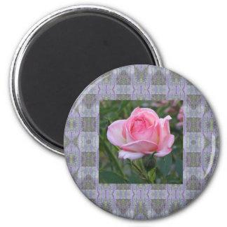 El jardín rosado subió 3 imán de nevera