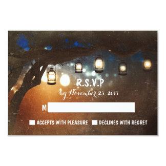 el jardín rústico enciende las tarjetas al aire invitación 8,9 x 12,7 cm