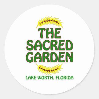 El jardín sagrado pegatina redonda