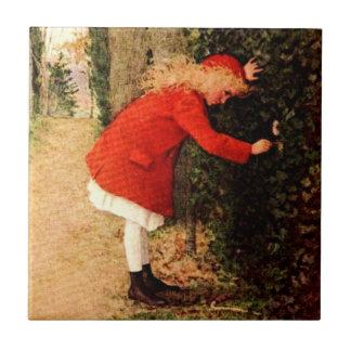 El jardín secreto azulejo cuadrado pequeño