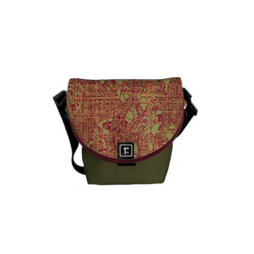 El jardín texturiza la bolsa de mensajero - pequeñ bolsas de mensajeria
