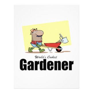 El jardinero más fresco del mundo membretes personalizados