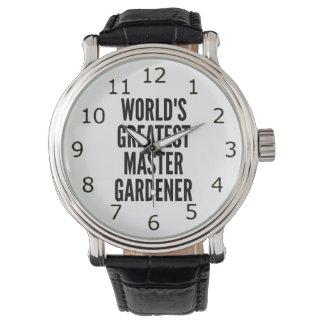 El jardinero principal más grande de los mundos relojes de mano