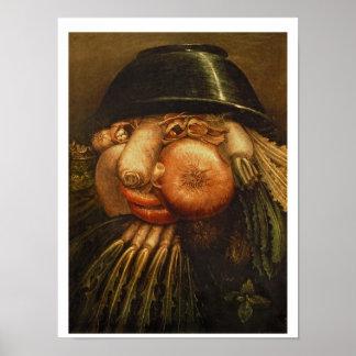 El jardinero vegetal, c.1590 (aceite en el panel) póster