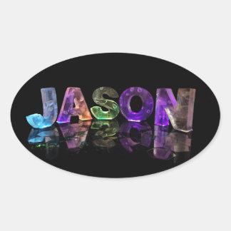 El Jason conocido en 3D se enciende (la Pegatina Ovalada