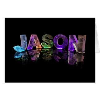 El Jason conocido en 3D se enciende (la Tarjeta De Felicitación
