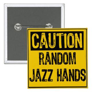 El jazz al azar de la muestra de la precaución da pin