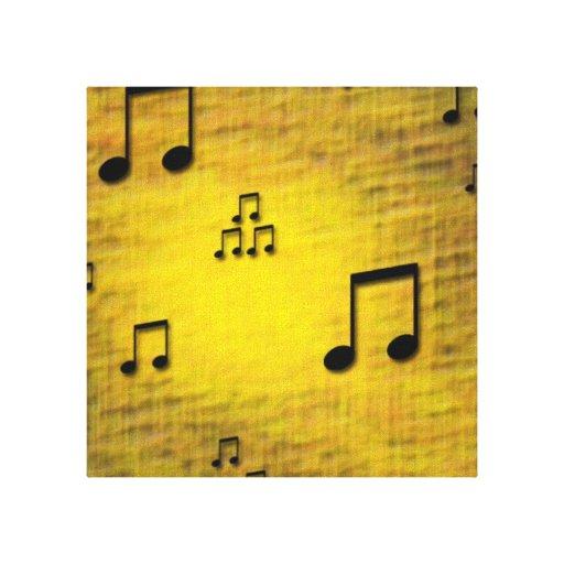 El jazz amarillo envolvió la impresión de la lona impresiones en lona estiradas