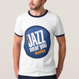 El jazz cerca de usted el vintage de los hombres remera