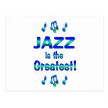 El jazz es el más grande postal