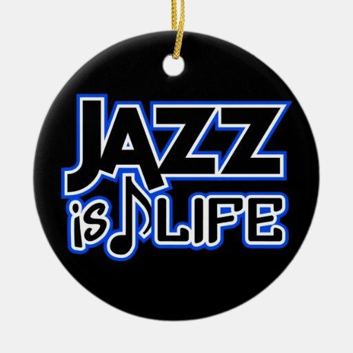 El JAZZ ES ornamento del personalizado de la VIDA Ornaments Para Arbol De Navidad