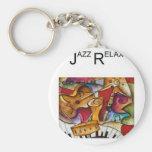 El jazz relaja productos llaveros personalizados