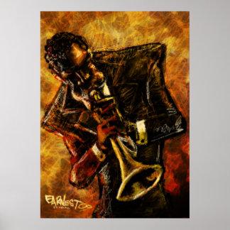 El jazz trabaja el poster póster