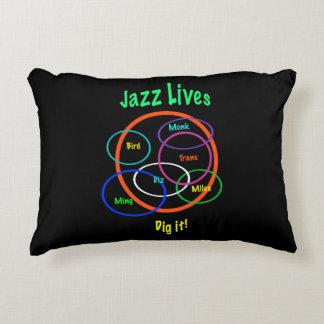 El jazz vive almohada del acento cojín decorativo