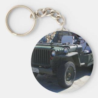 El jeep de Willy clásico Llavero Redondo Tipo Pin