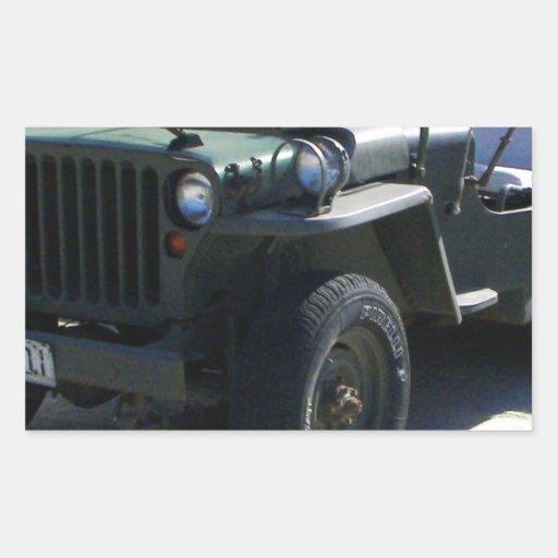 El jeep de Willy clásico Pegatinas