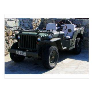 El jeep de Willy clásico Postal