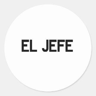 El Jefe Classic Round Sticker