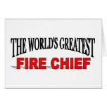 El jefe de bomberos más grande del mundo tarjetas