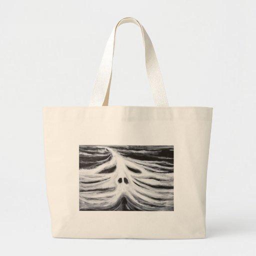 El jefe del leviatán (surrealismo blanco y negro) bolsa tela grande