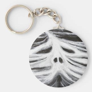 El jefe del leviatán (surrealismo blanco y negro) llavero redondo tipo pin
